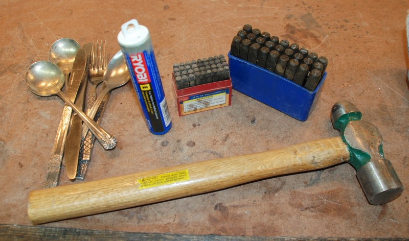 dsc 0126 800x4721 DIY Stamped Silverware Garden Markers