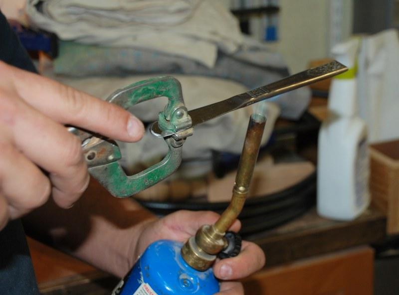 dsc 0149 800x592 DIY Stamped Silverware Garden Markers