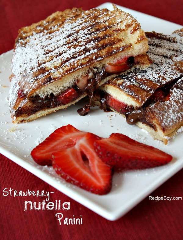 strawberry nutella panini 1 The Wonderful World Of Pinterest  July 2012
