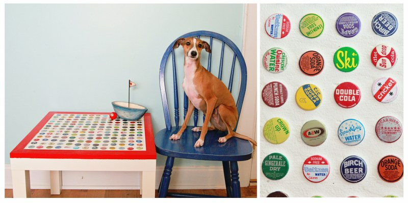 beau 2 800x399 DIY Cheap and Chic Bottlecap Table