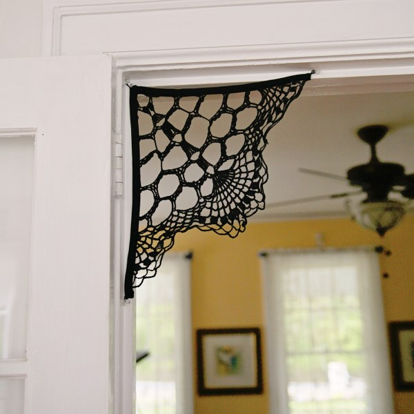 IMG 2695 600x600 13 Days of Halloween  Doily Spiderweb Corbels