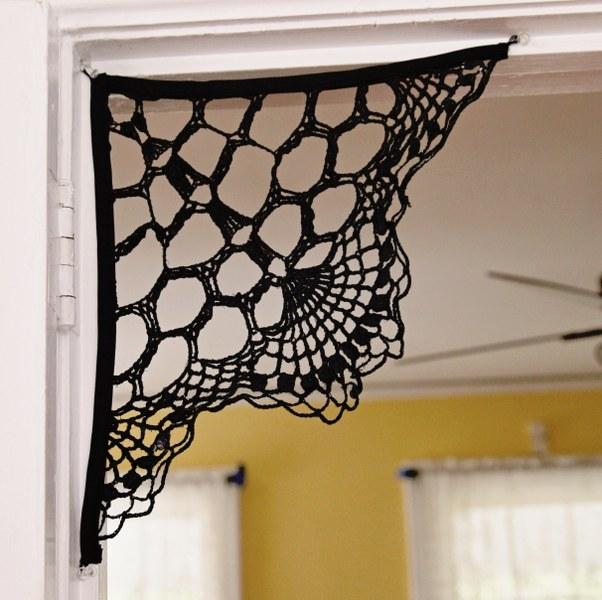 IMG 2696 602x600 13 Days of Halloween  Doily Spiderweb Corbels