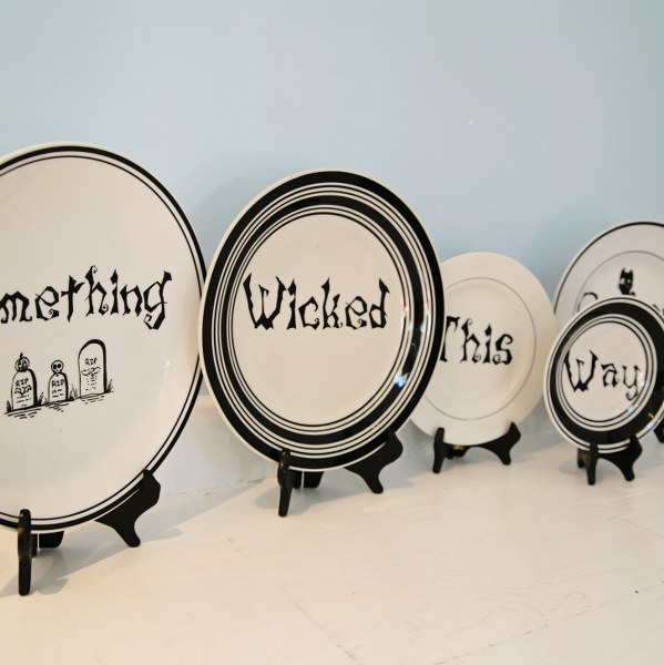 IMG 2843 599x600 13 Days of Halloween  DIY Macbeth Quote Plates