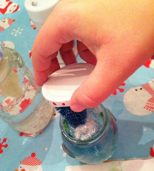 IMG 4975 541x600 DIY Recycled Jar Snowglobes