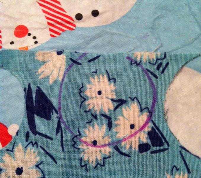 IMG 4989 679x600 12 Days of Handmade Gifts  Vintage Feedsack Chalkboard Lockets