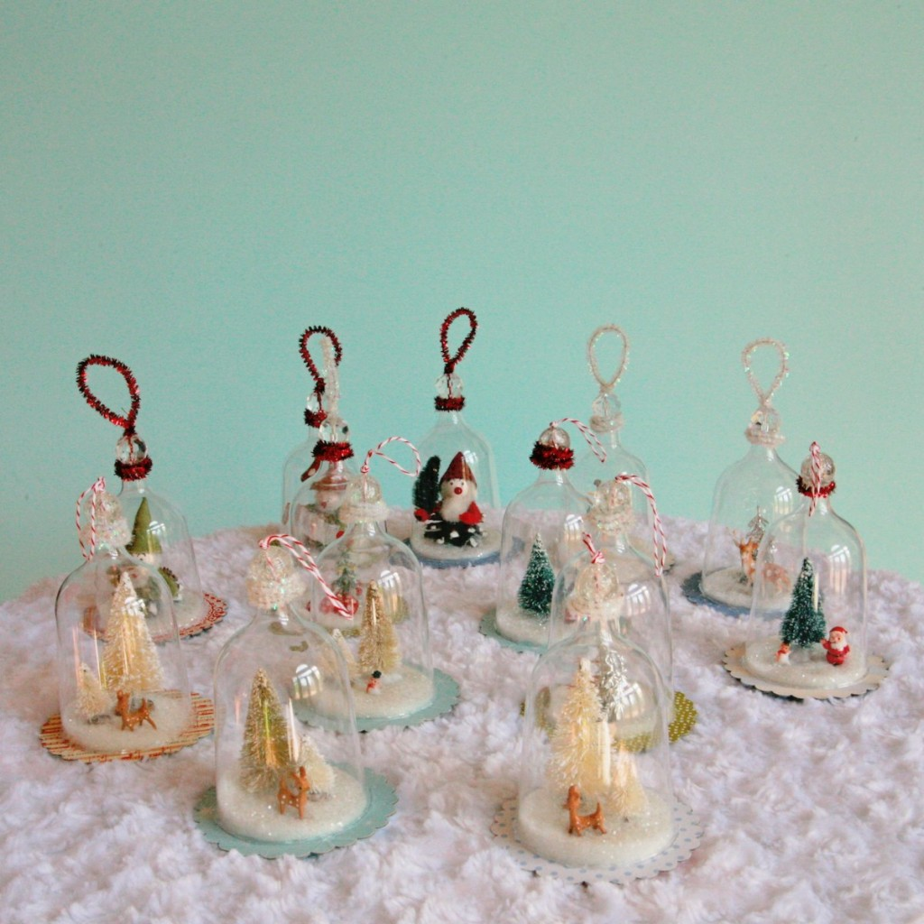 IMG 5414 1201x1200 1024x1024 DIY Vintage Inspired Bell Jar Ornaments