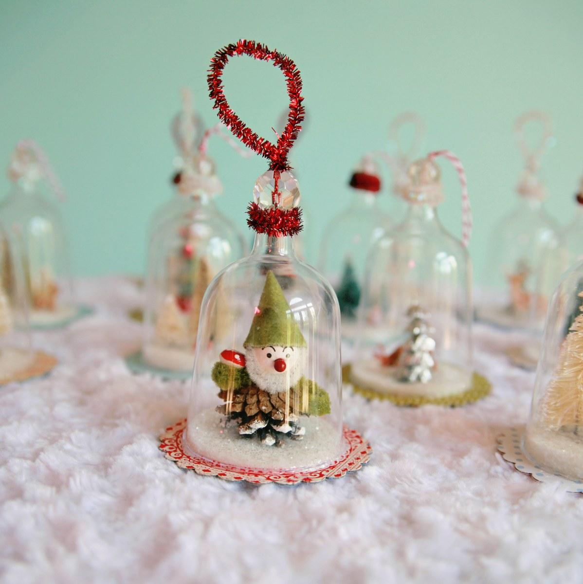 DECK THE HOLIDAY'S: DIY MINI VINTAGE LOOKING BELL JAR ...