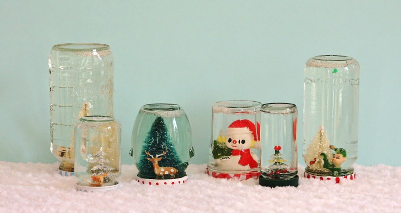 IMG 7441 800x425 DIY Recycled Jar Snowglobes