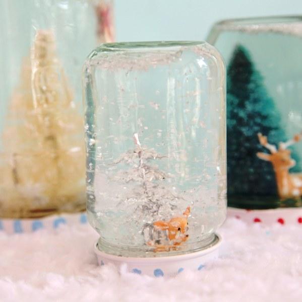 Diy Recycled Jar Snowglobes My So Called Crafty Life