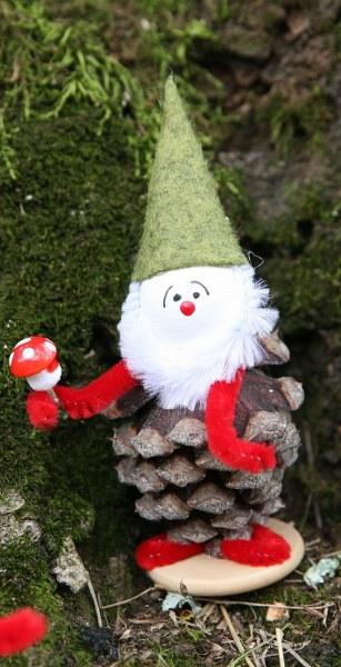 IMG 8358 307x600 Vintage Inspired Рождество Pine Cone Эльфы