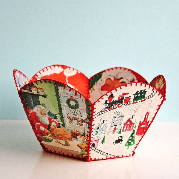 IMG 8367 600x600 DIY Vintage Christmas Card Bowl