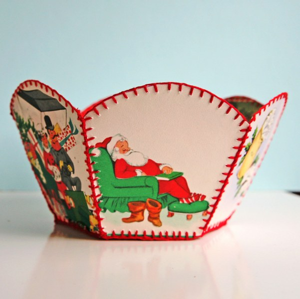 IMG 8373 601x600 DIY Vintage Christmas Card Bowl