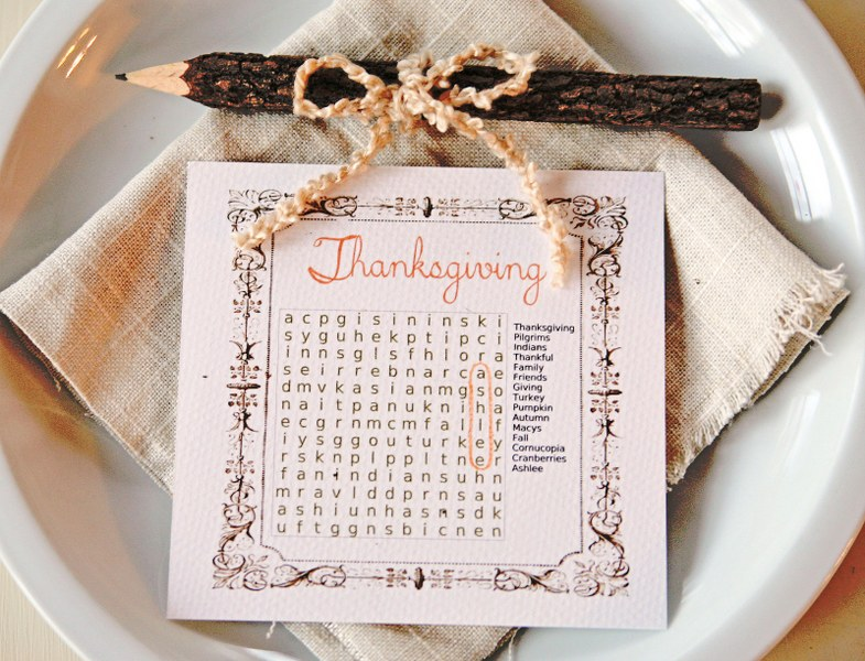 IMG 8490 785x600 Thanksgiving Word Search Place Cards