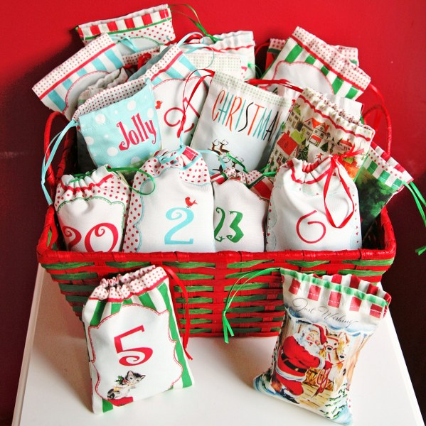 IMG 8510 599x600 DIY Drawstring Bag Advent Calendar