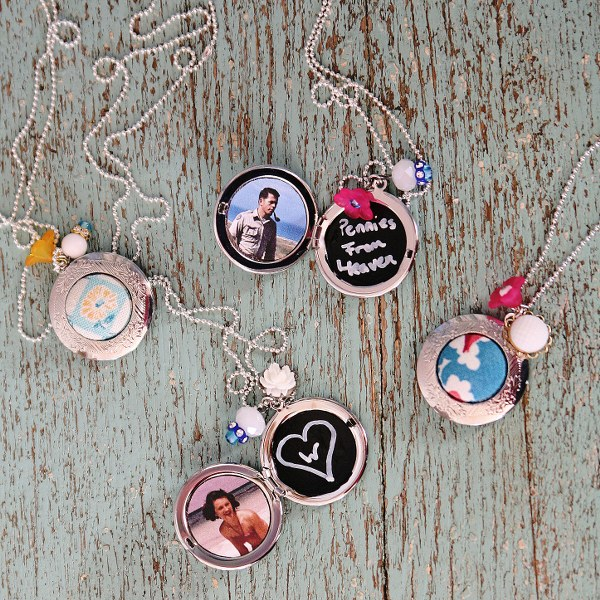 IMG 8593 600x600 12 Days of Handmade Gifts  Vintage Feedsack Chalkboard Lockets