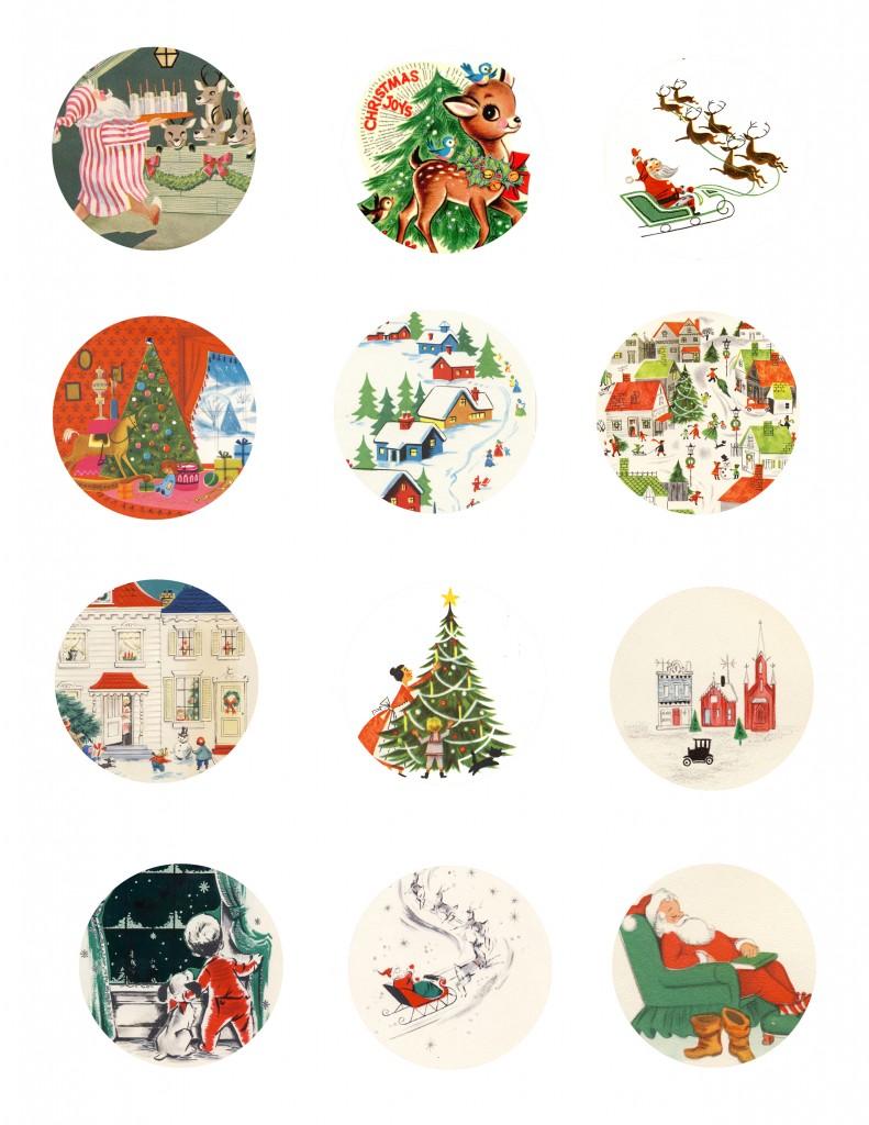 Рождество Метки Page 1 791x1024 Бесплатно для печати Vintage Christmas Gift тегов
