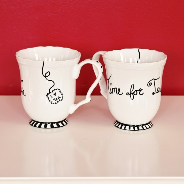 IMG 9015b 601x600 12 Days of Handmade Gifts  Fun Sharpie Mugs