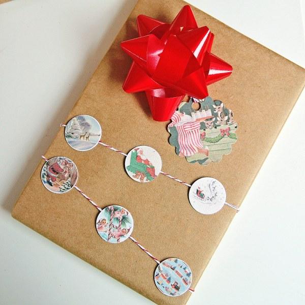IMG 9612 600x600 Бесплатно для печати Vintage Christmas Gift тегов