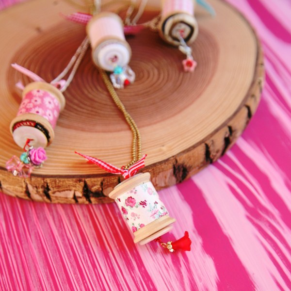 IMG 0812 600x600 14 Days of Love  Sweet Vintage Spool Necklaces