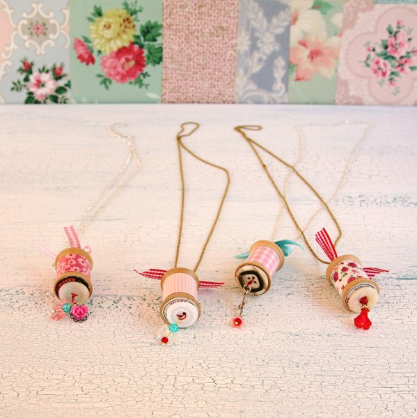 IMG 0816 599x600 14 Days of Love  Sweet Vintage Spool Necklaces