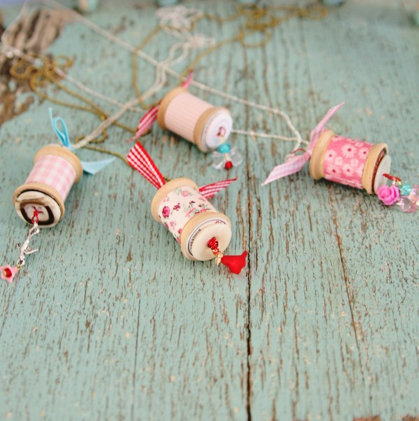 IMG 0826 598x600 14 Days of Love  Sweet Vintage Spool Necklaces