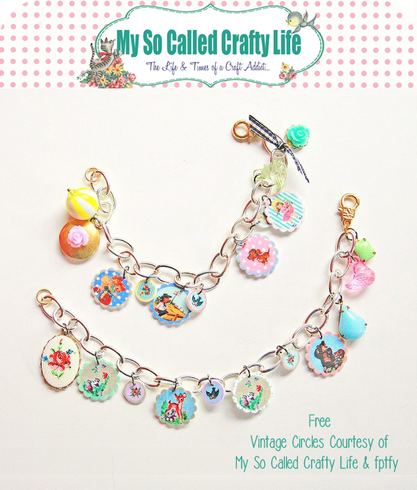 DIY vintage charms 1 Freebies