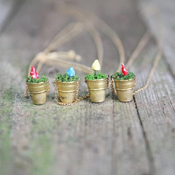 IMG 5136 600x600 DIY Mini Vintage Thimble Planter Necklaces