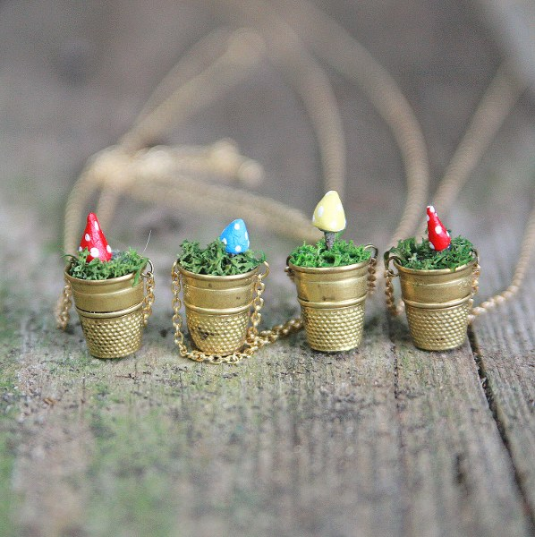 IMG 5137 598x600 DIY Mini Vintage Thimble Planter Necklaces