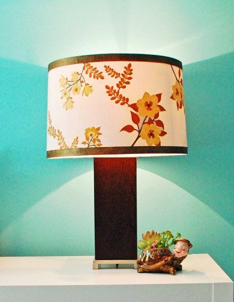 DSC 0018 465x600 Mid Century Inspired Lampshade with Martha Stewart Crafts Decoupage Medium