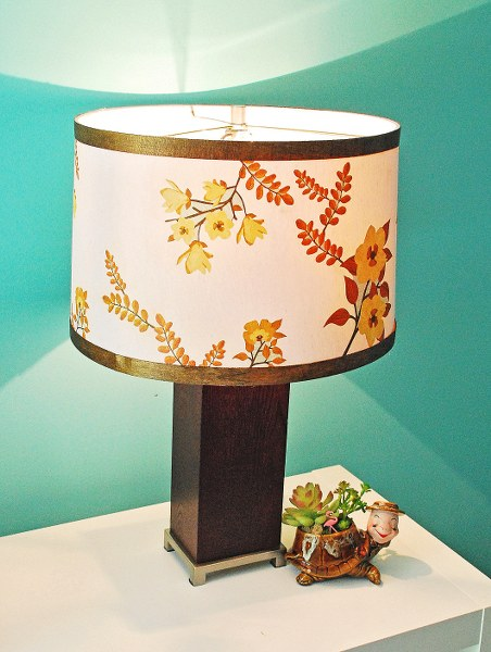 DSC 0019 452x600 Mid Century Inspired Lampshade with Martha Stewart Crafts Decoupage Medium