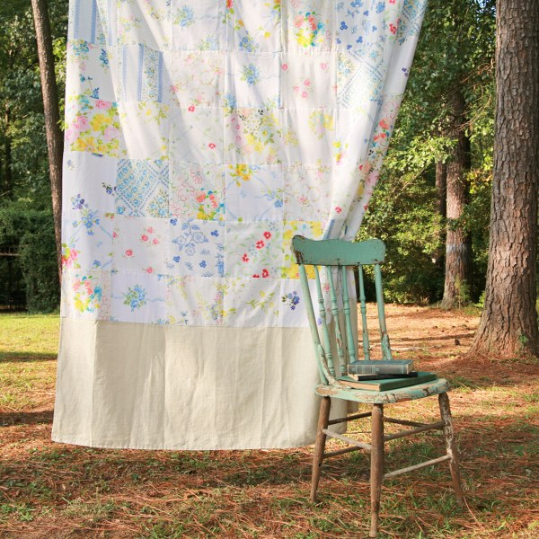 Diy Vintage Bedsheet Fabric Patchwork Curtain My So