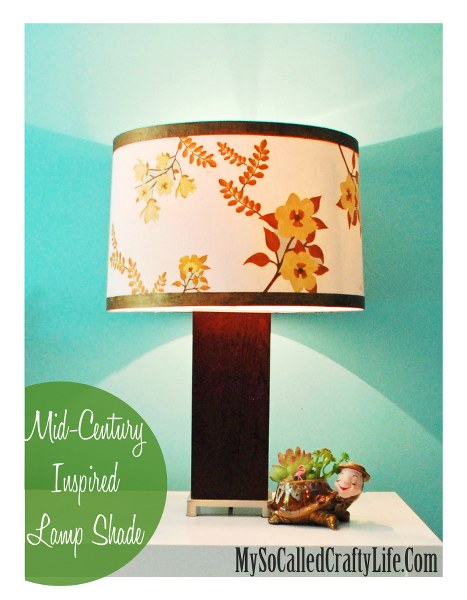 main edited 1 467x600 Mid Century Inspired Lampshade with Martha Stewart Crafts Decoupage Medium