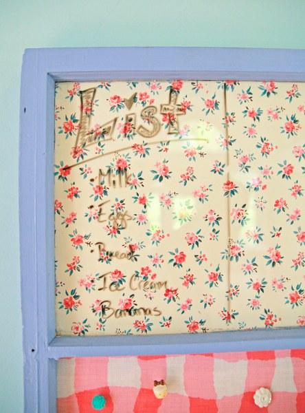 IMG 8854 444x600 DIY Vintage Upcycled Window Memo Board