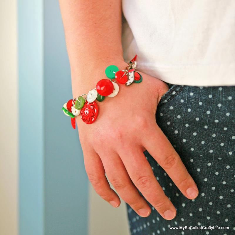 Diy Vintage Christmas Button Bracelet My So Called