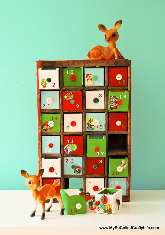 Diy Vintage Calendar : Diy vintage soda crate advent calendar my so called