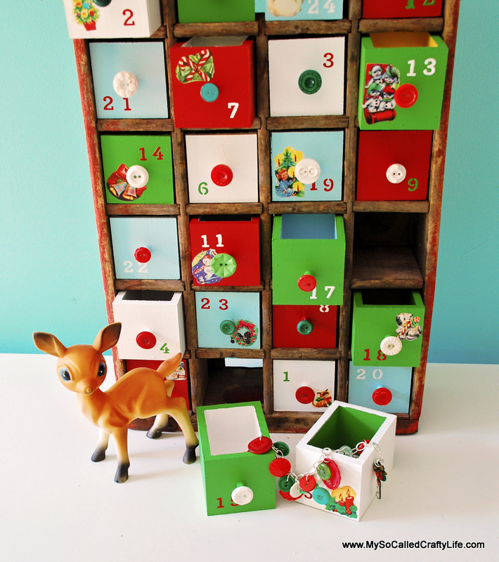 Diy Old Calendar : Diy vintage soda crate advent calendar my so called