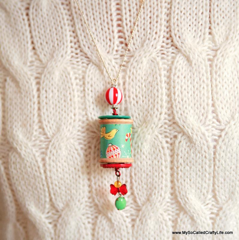 6 IMG 9209 copy DIY Holiday Spool Necklaces