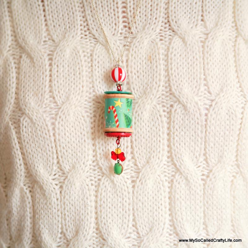 7 IMG 9202 copy DIY Holiday Spool Necklaces