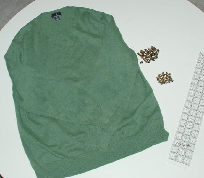 DSC 0193 690x600 DIY Easy Studded Sweater