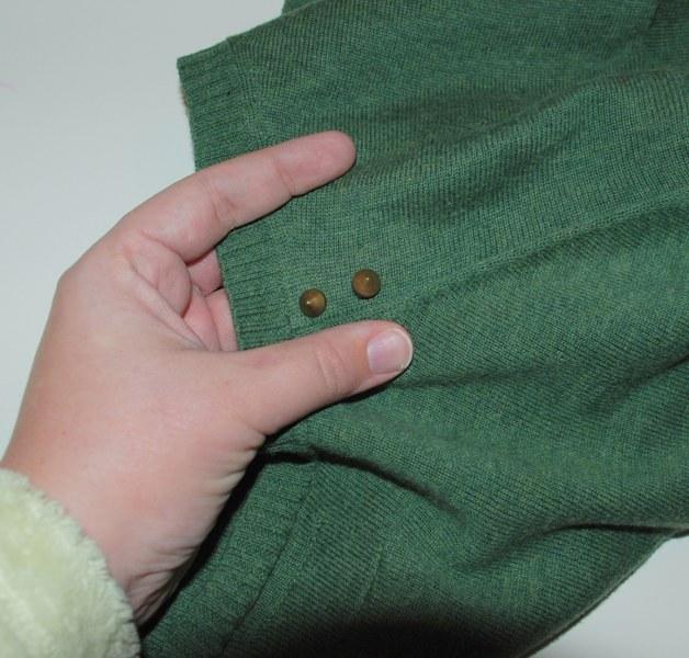 DSC 0194 628x600 DIY Easy Studded Sweater