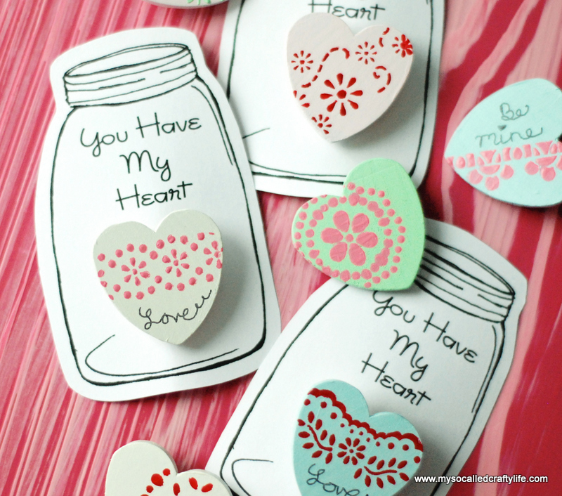 17 DSC 0057 DIY Heart in a Jar Valentine Pin