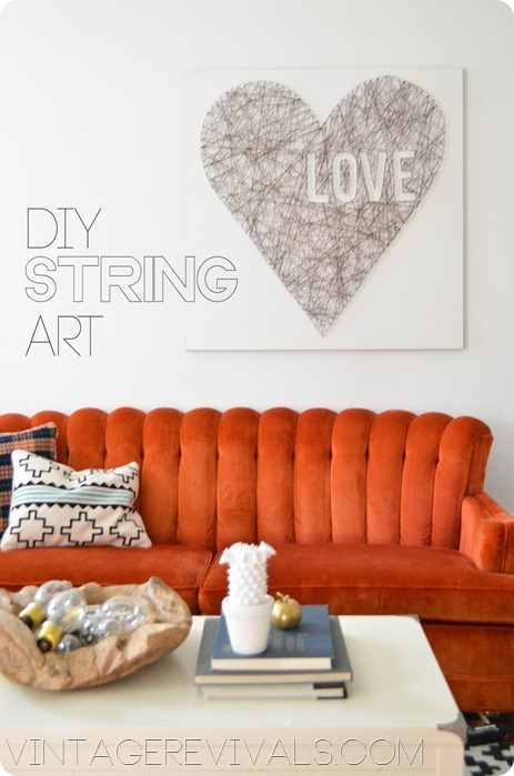 DIY Heart String Art Vintage Revival1 Valentines DIY Round Up