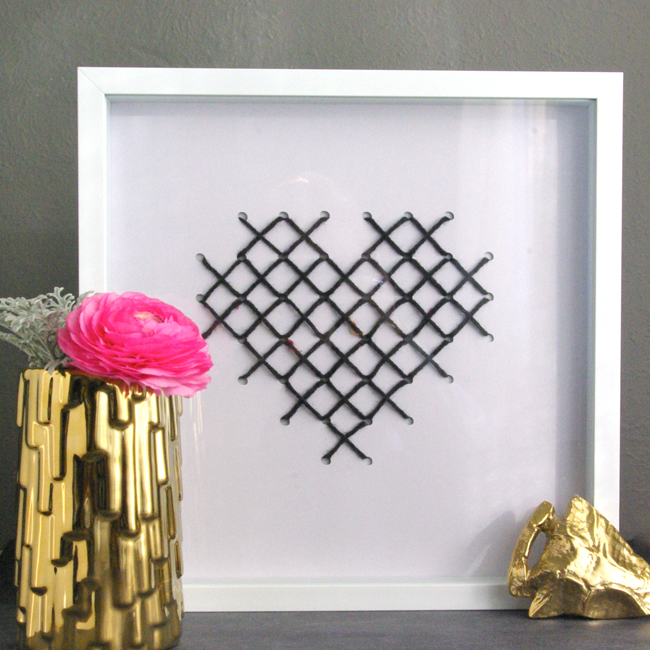 cross stitch heart 8 Valentines DIY Round Up