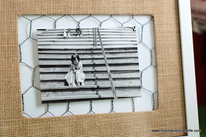 Easy DIY Rustic Photo Frame - My So Called Crafty Life