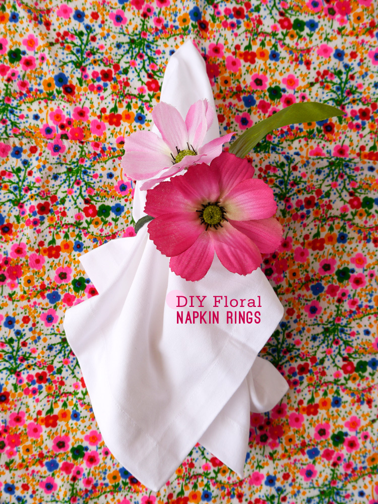 DIY Floral Napkin Rings Freutcake Spring is on the Way! March DIY Round Up!