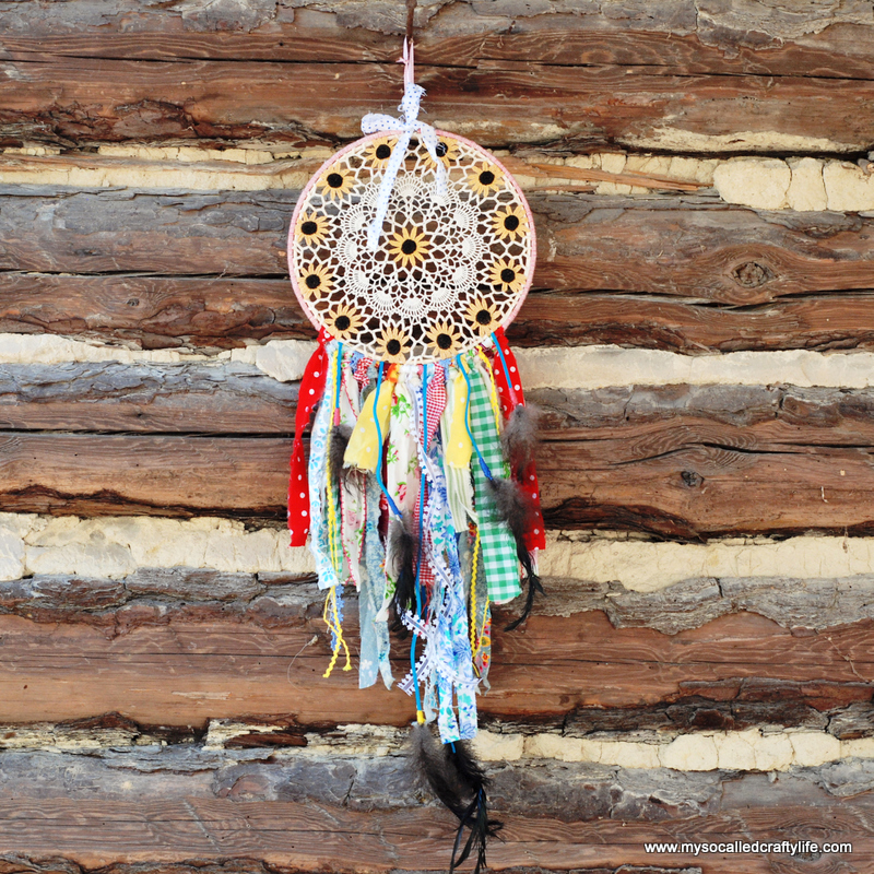 diy dream catcher Shabby Vintage Doily DIY Dream Catcher