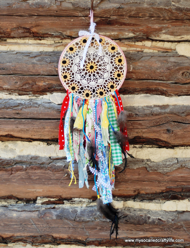diy embroidery hoop dream catcher Shabby Vintage Doily DIY Dream Catcher