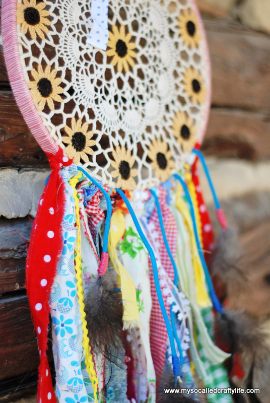 shabby dream catcher Shabby Vintage Doily DIY Dream Catcher