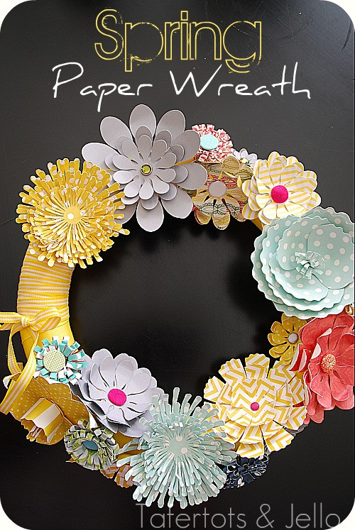 spring paper wreath header Spring is on the Way! March DIY Round Up!