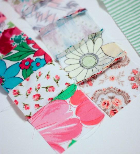 vintage feedsack patchwork strips